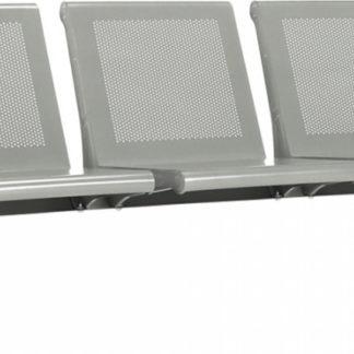 Tempo Kondela 3-místná lavice do čekárny KULIA - stříbrná + kupón KONDELA10 na okamžitou slevu 3% (kupón uplatníte v košíku)