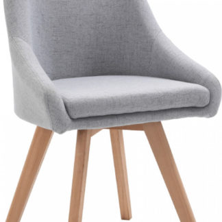 Tempo Kondela Jídelní židle TEZA - šedá/buk + kupón KONDELA10 na okamžitou slevu 3% (kupón uplatníte v košíku)