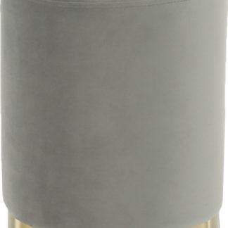 Tempo Kondela Taburet ALAZ - šedá Velvet /gold chrom-zlatá + kupón KONDELA10 na okamžitou slevu 3% (kupón uplatníte v košíku)