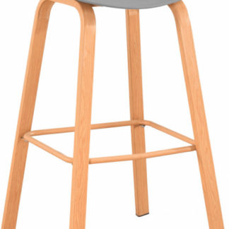 Tempo Kondela Barová židle BRAGA - šedá/přírodní + kupón KONDELA10 na okamžitou slevu 3% (kupón uplatníte v košíku)