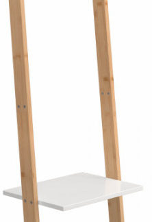 Tempo Kondela Věšák s policemi MARIKE TYP 1 - bílá / bambus + kupón KONDELA10 na okamžitou slevu 3% (kupón uplatníte v košíku)