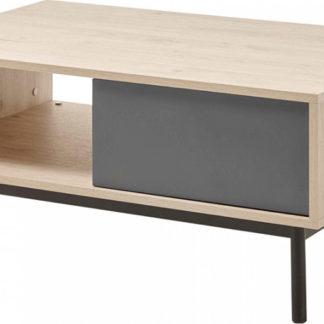 Tempo Kondela Konferenční stolek BERGEN BL104 - dub/grafit + kupón KONDELA10 na okamžitou slevu 3% (kupón uplatníte v košíku)