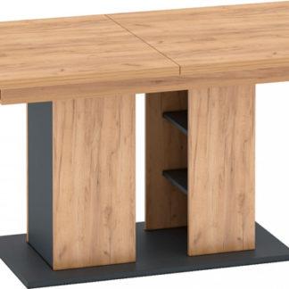 Tempo Kondela Jídelní stůl FIDEL - dub zlatý/grafit šedá + kupón KONDELA10 na okamžitou slevu 3% (kupón uplatníte v košíku)