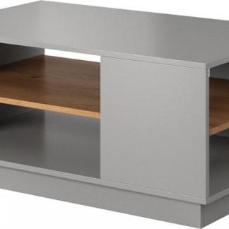 Tempo Kondela Konferenční stolek TRIO - šedá/dub + kupón KONDELA10 na okamžitou slevu 3% (kupón uplatníte v košíku)