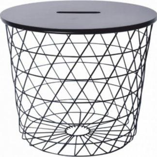 Tempo Kondela Příruční stolek BATIS TYP 1 - grafit / černá + kupón KONDELA10 na okamžitou slevu 3% (kupón uplatníte v košíku)