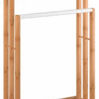 Tempo Kondela Věšák na ručníky KOMO - bambus/bílá + kupón KONDELA10 na okamžitou slevu 3% (kupón uplatníte v košíku)