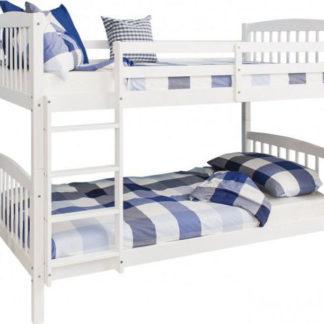 Tempo Kondela Patrová rozložitelná postel RAVELO NEW - bílá + kupón KONDELA10 na okamžitou slevu 3% (kupón uplatníte v košíku)