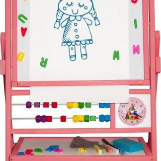 3toysm Dětská magnetická tabule růžová