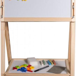 3toysm Dětská oboustranná magnetická tabule přírodní