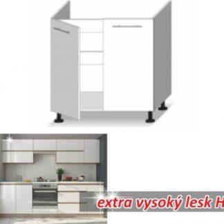 Tempo Kondela Kuchyňská skříňka LINE WHITE D80 ZL + kupón KONDELA10 na okamžitou slevu 3% (kupón uplatníte v košíku)