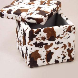 Idea Sedací úložný box bílý/hnědý maskovací