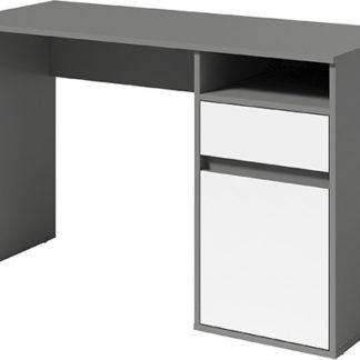 ATAN PC stůl BILI - tmavě šedá-grafit/bílá - II.jakost