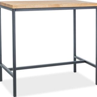 Casarredo Barový stůl METRO přírodní dýha dub/kov