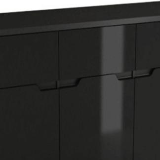 Tempo Kondela Komoda ADONIS ASK6 - černý vysoký lesk + kupón KONDELA10 na okamžitou slevu 3% (kupón uplatníte v košíku)