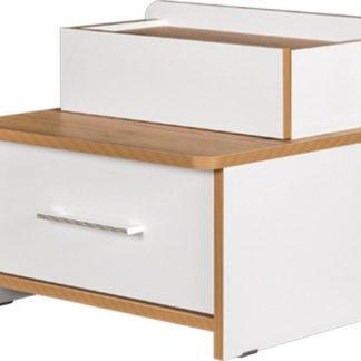 Casarredo Noční stolek WOODY bílá/dub kraft zlatý
