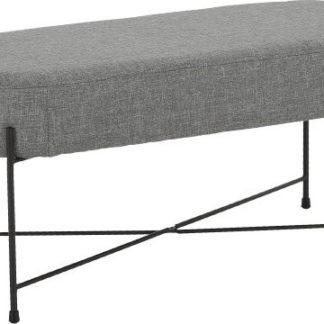 Tempo Kondela Designová lavice MATIR - šedá/černá + kupón KONDELA10 na okamžitou slevu 3% (kupón uplatníte v košíku)