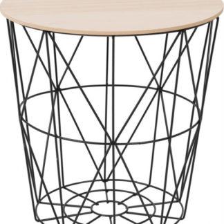 Tempo Kondela Příruční stolek NANCER TYP 3 - přírodní/černá + kupón KONDELA10 na okamžitou slevu 3% (kupón uplatníte v košíku)