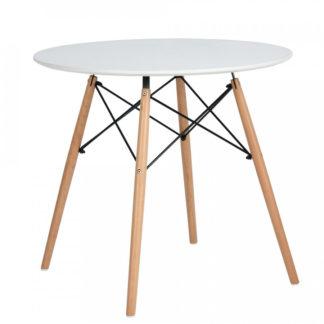 Tempo Kondela Jídelní stůl DEMIN - bílá matná/buk + kupón KONDELA10 na okamžitou slevu 3% (kupón uplatníte v košíku)
