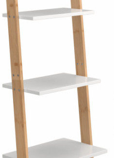 Tempo Kondela Regál GAPA TYP 3 - bílá/bambus + kupón KONDELA10 na okamžitou slevu 3% (kupón uplatníte v košíku)