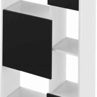 Tempo Kondela Regál ULIMI - bílá/černá + kupón KONDELA10 na okamžitou slevu 3% (kupón uplatníte v košíku)