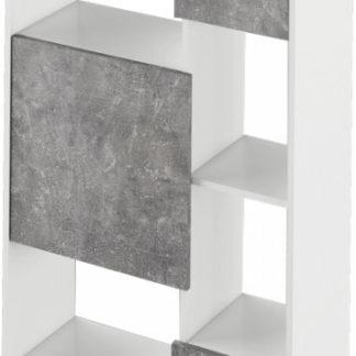 Tempo Kondela Regál ULIMI - bílá/beton + kupón KONDELA10 na okamžitou slevu 3% (kupón uplatníte v košíku)
