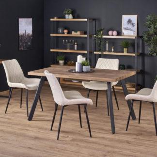 Halmar  jídelní stůl BERLIN - medový ořech/černá