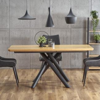 Halmar  jídelní stůl DERRICK - dub/černá