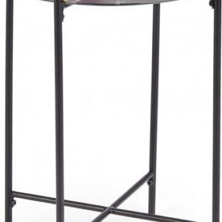 Halmar Odkládací stolek LINUX - černý mramor