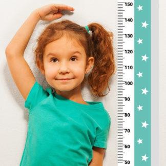 Pastelowelove Měřítko vzrůstu hvězdičky - zelená