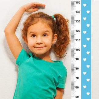 Pastelowelove Měřítko vzrůstu srdíčka - modrá