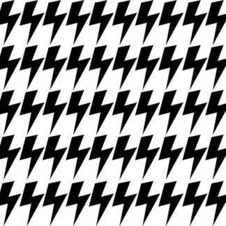 Pastelowelove Samolepky na stěnu blesk - černá - 45 kusů