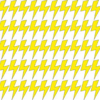 Pastelowelove Samolepky na stěnu blesk - citrónová - 45 kusů