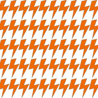 Pastelowelove Samolepky na stěnu blesk - pomerančová - 45 kusů