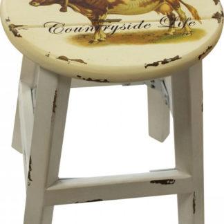 Idea Stolička bílá/kráva antik