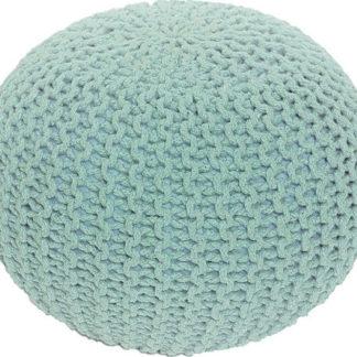 Tempo Kondela Pletený taburet GOBI TYP 2 - mentol bavlna + kupón KONDELA10 na okamžitou slevu 3% (kupón uplatníte v košíku)
