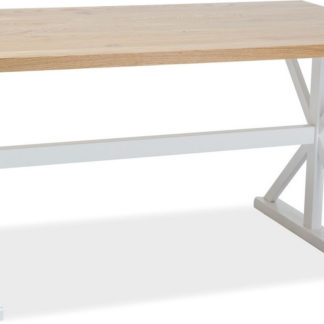 Casarredo Jídelní stůl OXFORD 150 bílá/dub