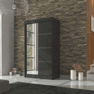 Černá skříň s posuvnými dveřmi 120 cm
