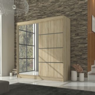 Velká šatní skříň v přírodním dekoru dub sonoma