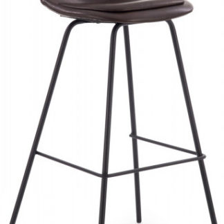 Halmar Barová židle H-90 - tmavě hnědá