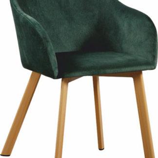 Tempo Kondela Jídelní křeslo TANDEL - smaragdová/buk + kupón KONDELA10 na okamžitou slevu 3% (kupón uplatníte v košíku)