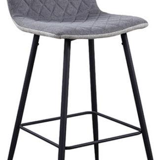 Tempo Kondela Barová židle TORANA - světle šedá/šedá/černá + kupón KONDELA10 na okamžitou slevu 3% (kupón uplatníte v košíku)