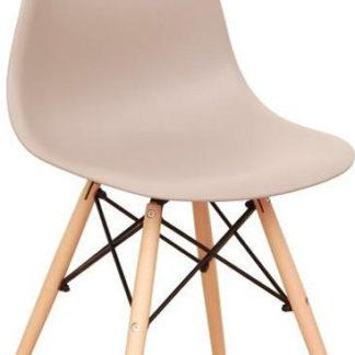 Tempo Kondela Židle CINKLA 3 NEW - teplá šedá / buk + kupón KONDELA10 na okamžitou slevu 3% (kupón uplatníte v košíku)
