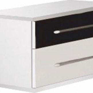 Tempo Kondela Noční stolek Rublin (2 ks) - bílá / černá + kupón KONDELA10 na okamžitou slevu 3% (kupón uplatníte v košíku)