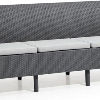 Rojaplast Sofa SALEMO 3 seater - grafit