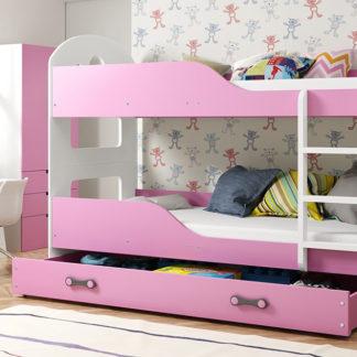 Falco Patrová postel Domino 90x200 bílá/růžová