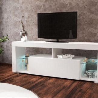 Casarredo Televizní stolek VEGAS bílá/bílý lesk