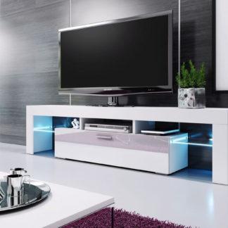 Casarredo Televizní stolek VERA MINI 138 bílá/bílá vysoký lesk