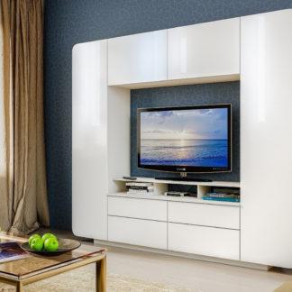 Casarredo Obývací stěna RUMBA bílá/bílá lesk