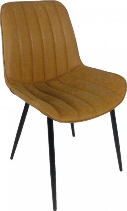 Tempo Kondela Židle HAZAL - hnědá camel/černá + kupón KONDELA10 na okamžitou slevu 3% (kupón uplatníte v košíku)