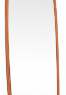 Tempo Kondela Zrcadlo na kolečkách ORKAN - hnědá + kupón KONDELA10 na okamžitou slevu 3% (kupón uplatníte v košíku)